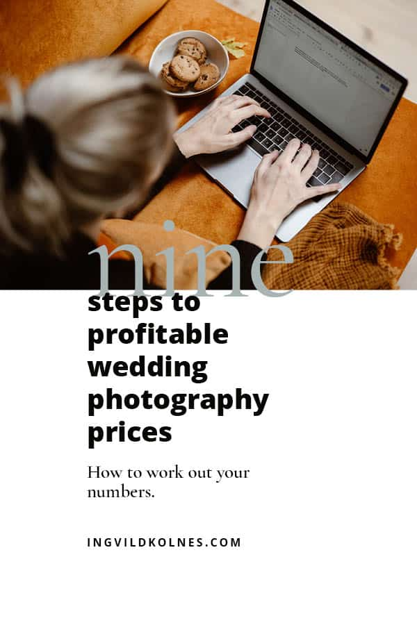profitable wedding photography prices
